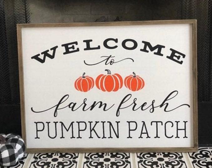 Farm Fresh Pumpkin Decal Vinyl Decor Fall Pumpkin Patch Decal for Sign Making Vinyl Decal DIY Sign Pumpkins Fall Decor Seasonal Decal Only
