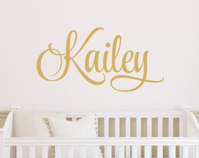 Name Decal for Wall Vinyl Decor Bedroom Children Kids Wall Decals Personalized Wall Sign for Nursery or Bedroom Gold Wall Decal