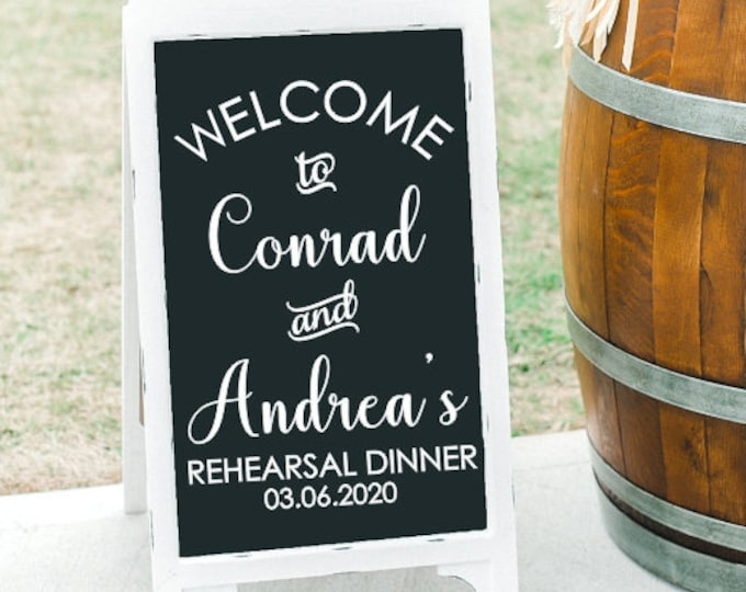 Rehearsal Dinner Decal for Sign Vinyl Decal for Wedding Shower Welcome Decal for Rehearsal Dinner Mirror or Chalkboard Wedding Shower Sign
