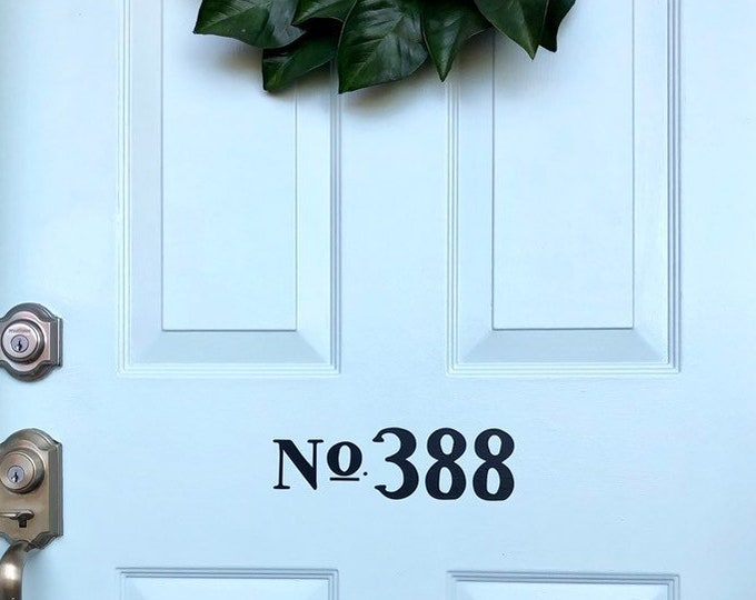 Door Number Decal Vinyl Decor House Number Sticker for Front Door Number Decal for Mailbox Traditional Front Door Vinyl Decal Curb Appeal