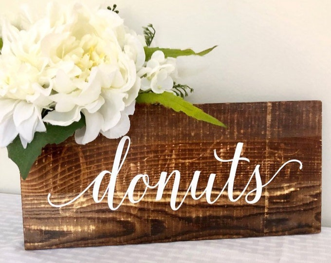 Donuts Wedding Decal Vinyl Decor for Donut Wall or Donut Board Rustic Wedding Sign Lettering for Decal DIY Decal Wedding Sign