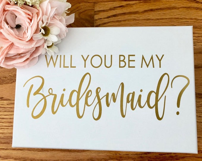 Will you be my Bridesmaid Decal Wedding Party Sticker Decal for Bridesmaid Gift Box Decal for  Wedding Box Modern Wedding Party Gift Box