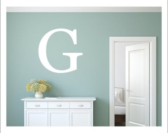 BOX FRAME OPTION FONTS ANY LETTERS WALL DECAL PERSONALISED INITIALS