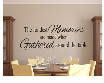 Beau More Colors. The Fondest Memories Decal Vinyl Wall Decal Kitchen Dining Room  ...