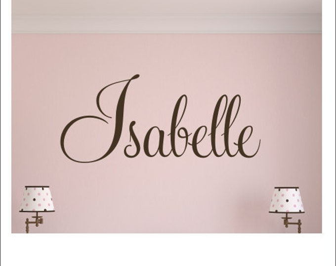 Personalized Name Decal Wall Decal Vinyl Wall Decal Housewares Girls Boys Nursery Bedroom Wall Decal Monogram Decal Fancy Script Decal