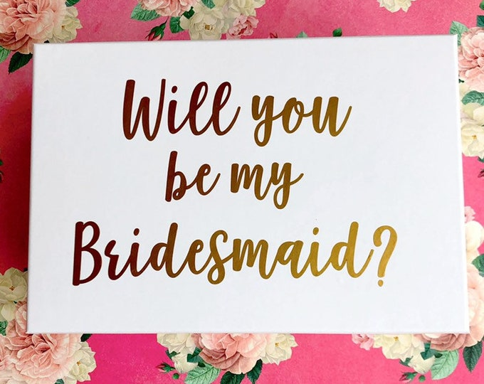 Will You Be My Bridesmaid Decal Sticker for Wedding Party Box Gift Box Decal Will You Be My Maid of Honor Bridesmaid Gift Vinyl Decal