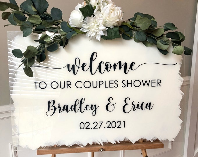 Couples Shower Vinyl Decal for Sign Making Welcome Shower Decal for Mirror Or Chalkboard Decal for Shower Plexiglass Sign Making DIY