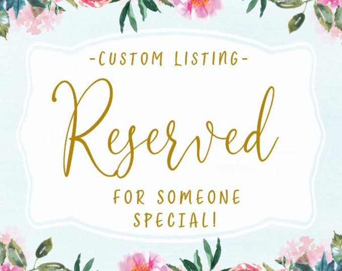Reserved for amy