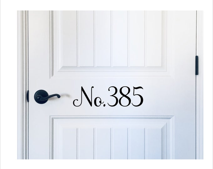 Door Number Decal House Number Vinyl Decal Address Number Decal Door Decor Porch Decor Curb Appeal Vinyl Door Decal House Numbers Vinyl