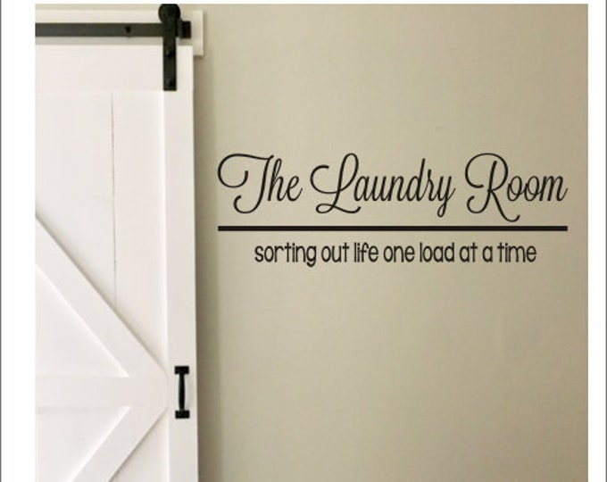 The Laundry Room Vinyl Wall Decal Large Vinyl Decor Laundry Housewares Home Decor Laundry Decal Laundry Room Decal Wall Decal Wall Decor