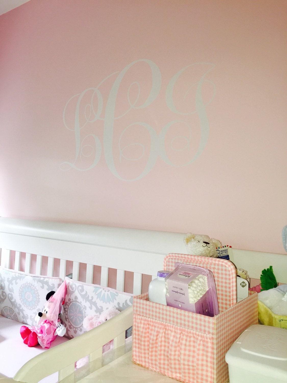 Vine Monogram Decal Vinyl Wall Decal Housewares Girl ...