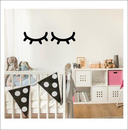 6292d0ccc2 Sleepy Eyes Decal Vinyl Wall Decor Girls Bedroom Nursery Decor ...