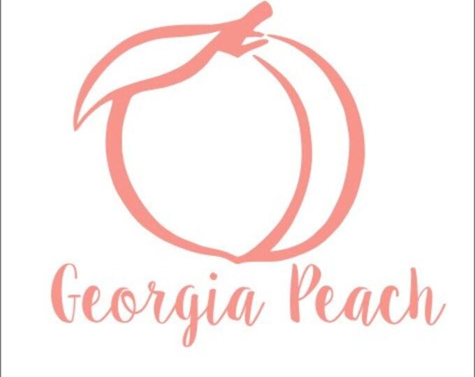 Georgia Peach Decal Georgia Peach Vinyl Decal Car Decal Georgia Car Decal State Pride Vinyl Decal Georgia Car Decal Peach Car Decal Southern