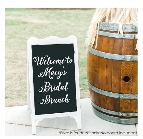 e309623dac45 Bridal Brunch Decal Vinyl Decal for Bridal Brunch Sign Bridal Shower ...