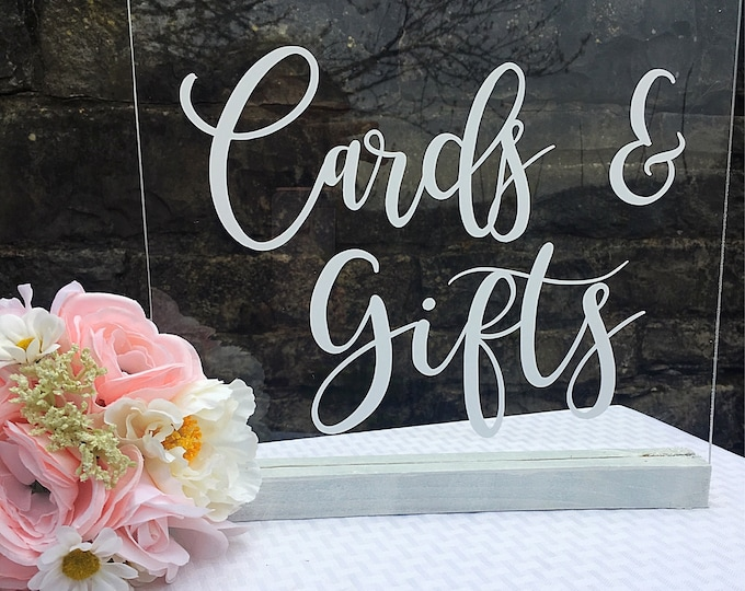 Cards and Gifts Decal Wedding Vinyl Decal Rustic Barn Wedding Table Decor Wedding Vinyl Decal DIY Lettering for Sign Chalkboard