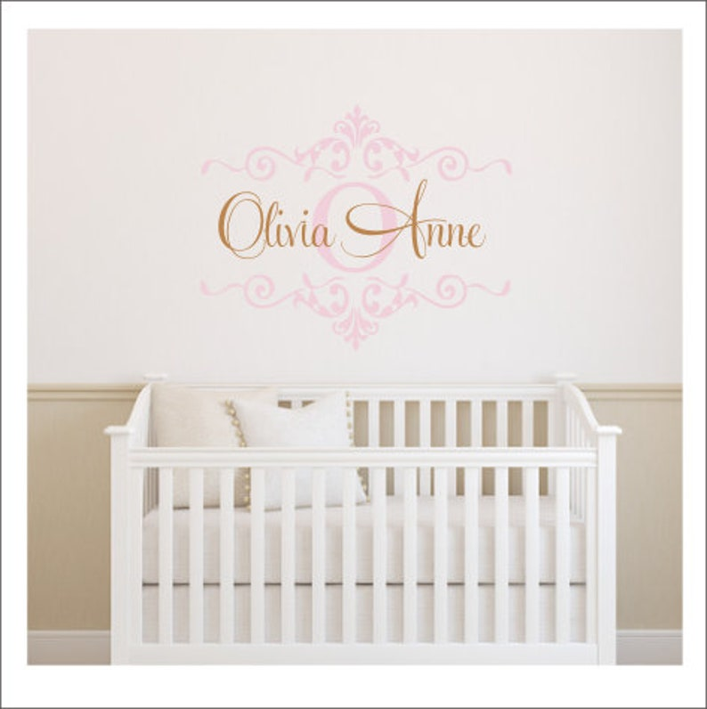 Vinyl Wall Decal Personalized Nursery Bedroom Wall Decal Girls | Etsy