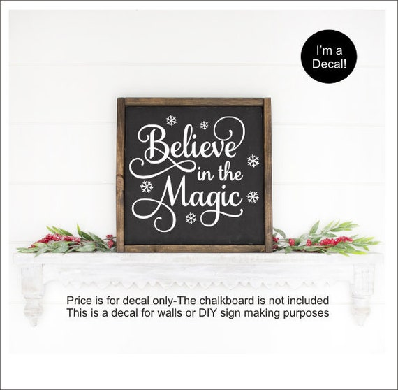 CHRISTMAS Believe in the Magic Decal Free Shipping