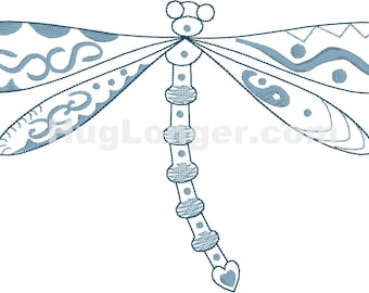 Embroidered Dragonfly HL2201 embroidery file