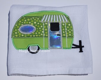 Applique Camper embroidery file HL1027 trailer little camper camping vacation