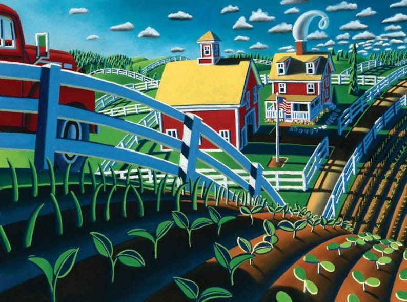 It/'s Planting Time by Wade Zahares a  signed limited edition Giclee print.