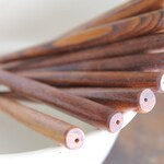 "Canterbury Wooden Hairsticks - Beadable 6"" Solid Wood - Hair Stick Shawl Pin Hair Fork Shawl Stick"