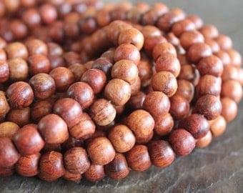 Kala Rosewood 8mm Beads - Full Strand - 108 Beads Plus Head Bead - Perfect for Lotsa Mala Style Love