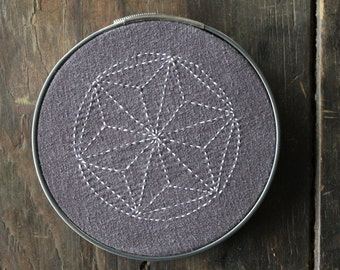 PDF Sashiko Star Embroidery Pattern - Home Decor Wall Art - Traditional Japanese Quilting Design - Trendy and Cool