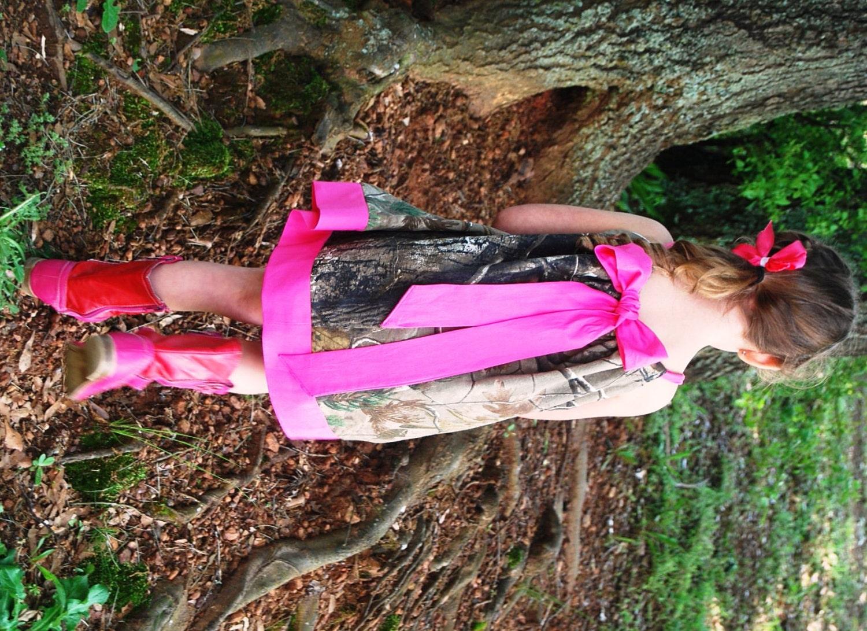 Camo flower girl Dress Handmade from Realtree Camo Mossy