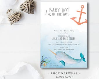 Ahoy Narwhal Invitations