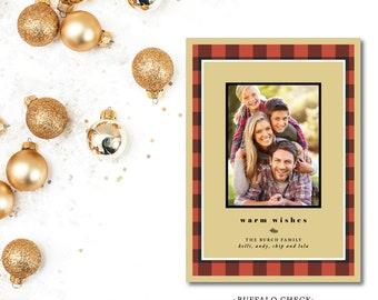 Buffalo Check Christmas Photocards