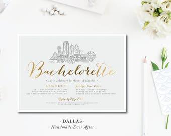 Dallas Scene Bachelorette Invitations