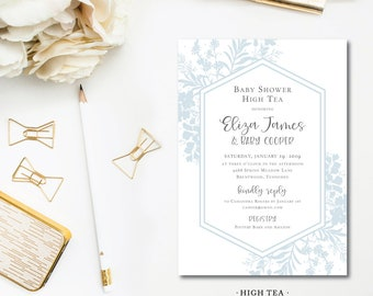High Tea Baby Shower Invitations