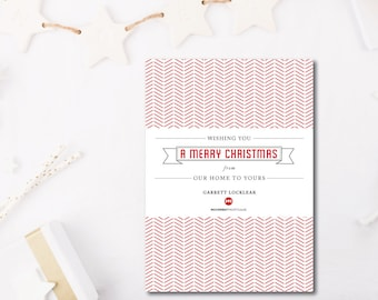 Cross Stitch Banner Holiday Cards