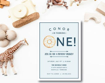 Donut Birthday Invitations