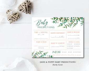 Jade and Poppy Baby Prediction Cards