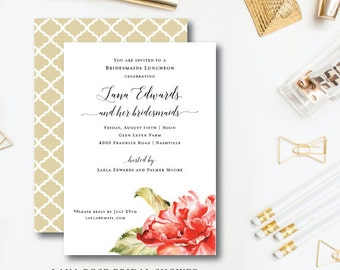 Lana Rose Bridesmaids Luncheon Invitations
