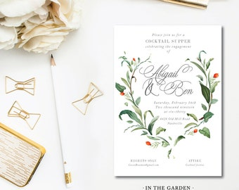 In the Garden Printed Invitations