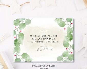 Eucalyptus Wreath Christmas Cards