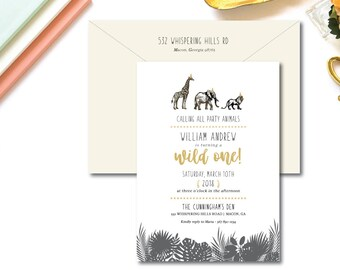 Wild One Birthday Invitations