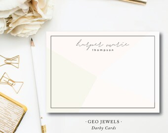 Modern Art Geo Jewels Stationery Notes