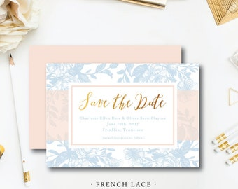French Lace Save the Dates