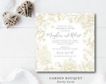 Garden Bouquet Printed Invitations