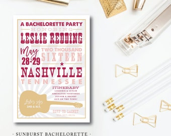 Southern Burst Party Invitations