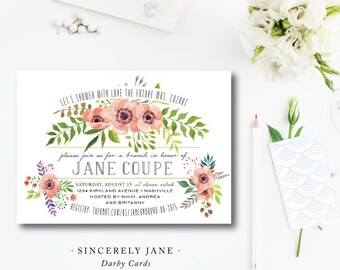 Sincerely Jane Shower Invitations