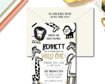 Party Animal Birthday Invitations
