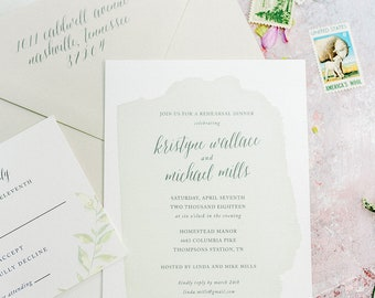 Summer Poplar Rehearsal Dinner Invitations