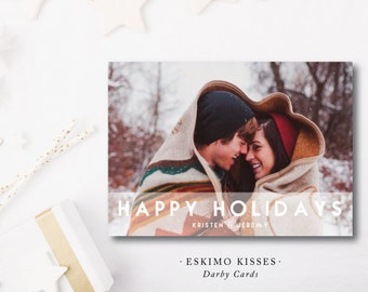 Eskimo Kisses Printed Holiday Cards