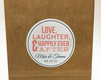 Love and Laughter Hotel Bag Sticker