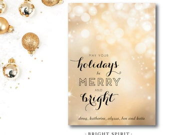 Bright Spirit Holiday Cards | Christmas or Holiday Card | Printed and Printable by Darby Cards