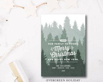 Evergreen Holiday Cards